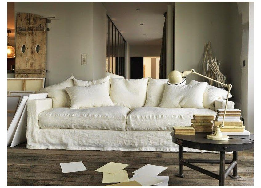 The White Linen Sofa I Need White Linen Sofa Living Room In My Loft Studio Project I Need To Buy A Huge Linen Whit In 2020 White Linen Sofa Linen Sofa Linen