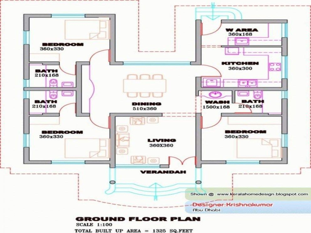 Pin by Home Design on Home Design in 2019 | Bedroom house plans, 4