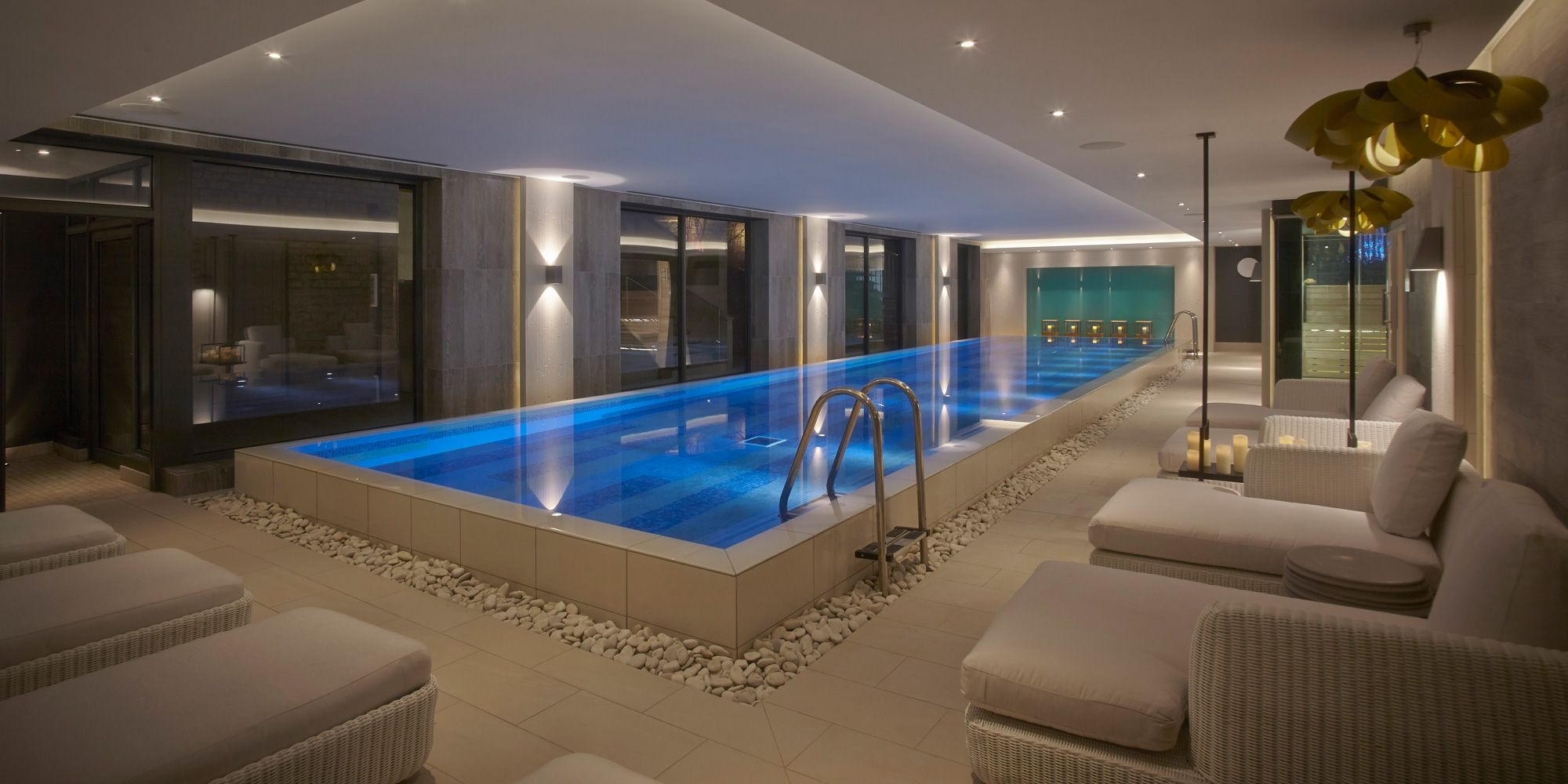 Luxury Spa In The Cotswolds Dormy House Hotel Spa Indoor Pool Design Indoor Swimming Pool Design Pool Houses