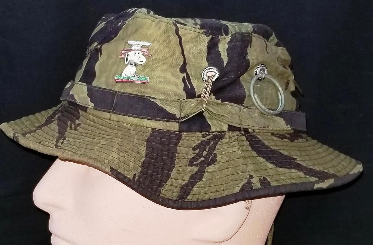 55da7d38175 Vietnam War US Navy Swift Boat sailor Billy P. Carwile...His Vietnam Tiger  Stripe Boonie Hat and Vietnamese made Snoopy insignia worn In Country