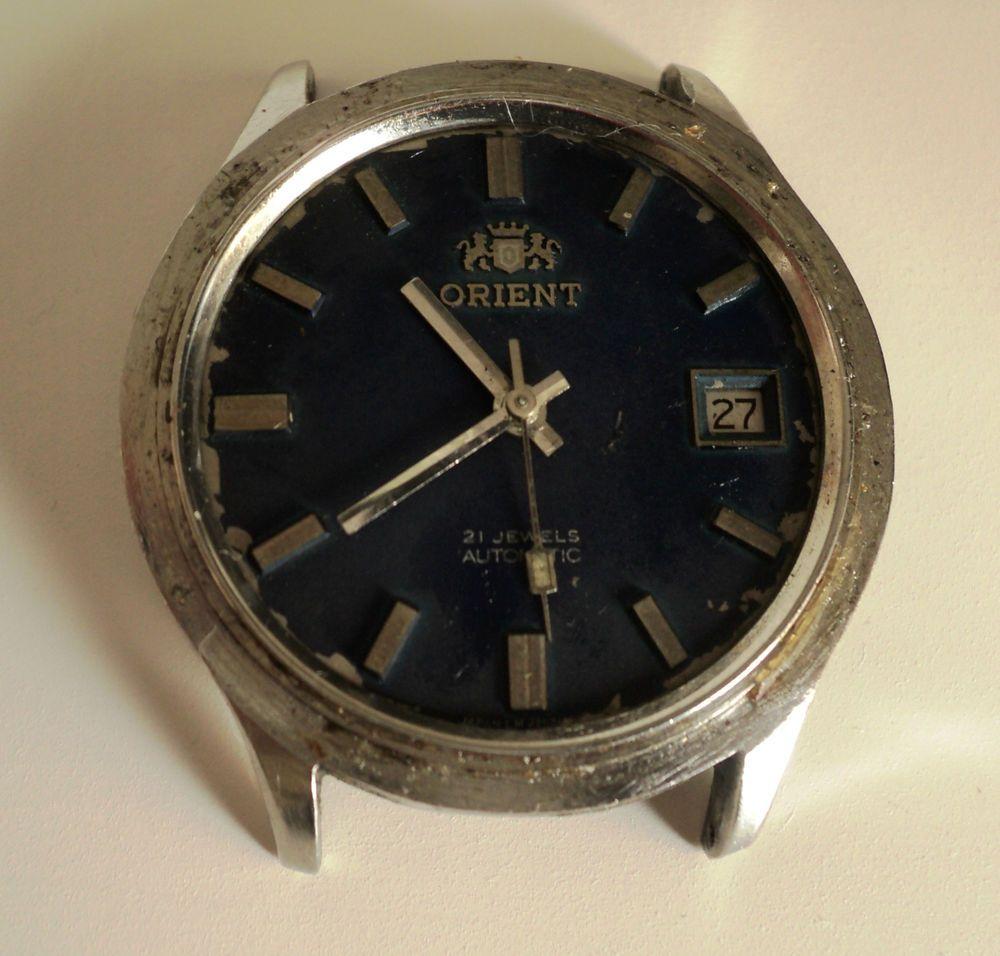 Vintage ORIENT 1746 21j. Men Watch Automatic For Parts  ORIENT 832f213e179