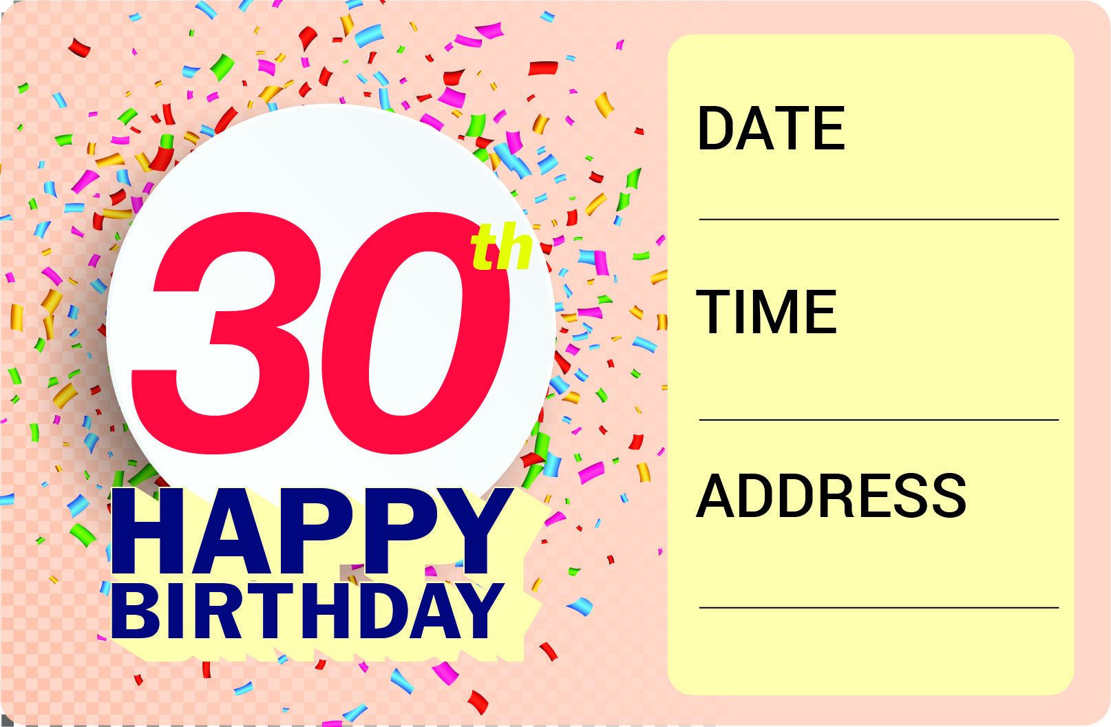Get FREE Printable 30th Birthday Invitation Template | FREE ...