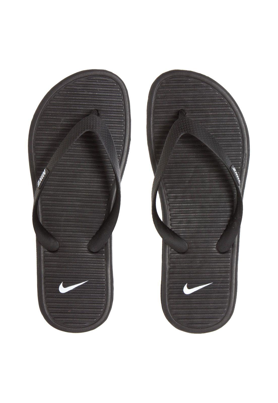 Nike Chinelo Thong Ii Solarsoft Sportswear PretoSandalias KJcTlF13