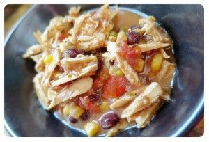21 Day fix Recipe: Chicken Enchilada Soup in Crockpot