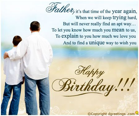 dad birthday quotes Google Search Bahaha Pinterest – Happy Birthday Card for Father
