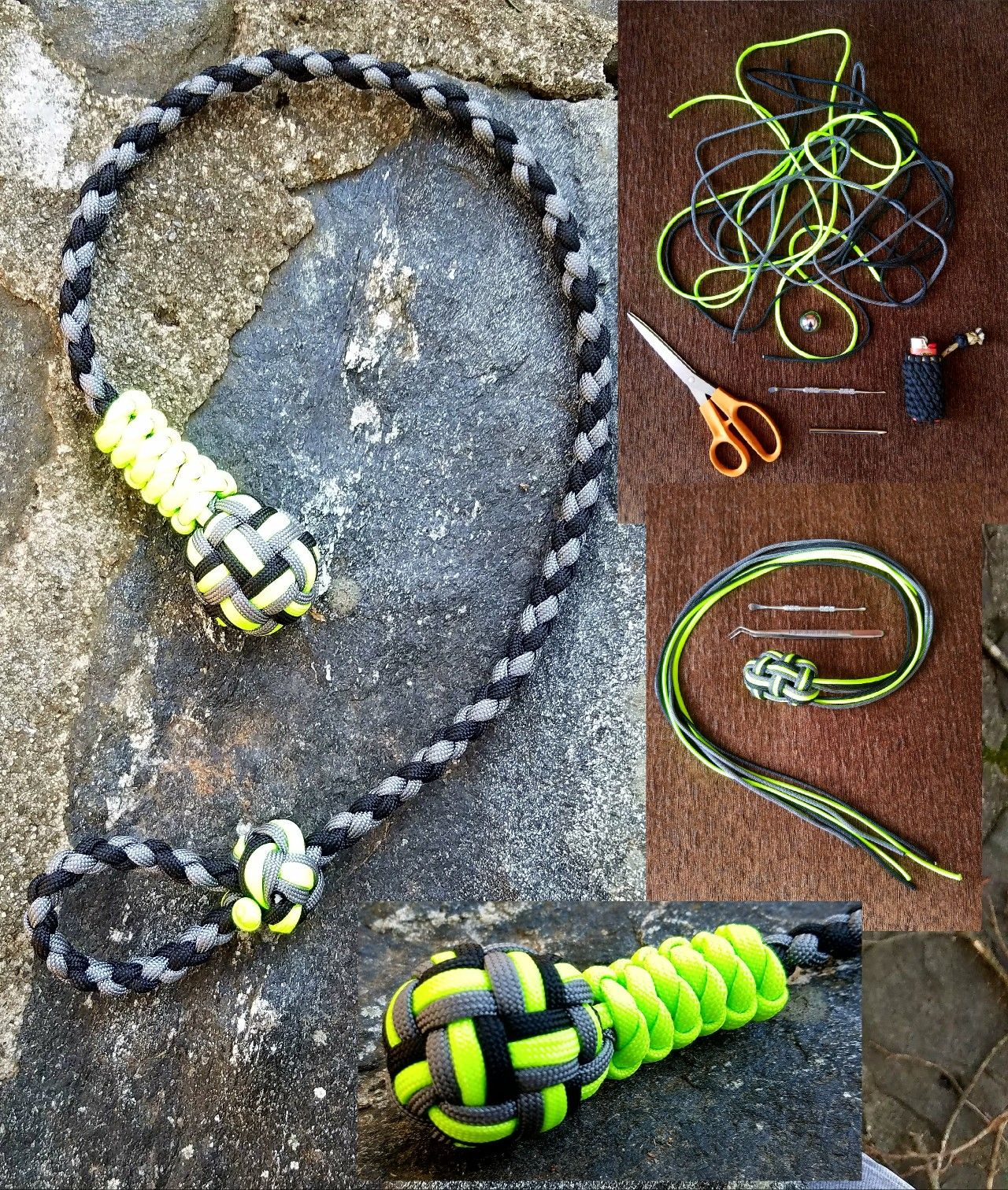 1 Inch Ball Bearing Monkey Fist With 2 Foot Lanyard With Images