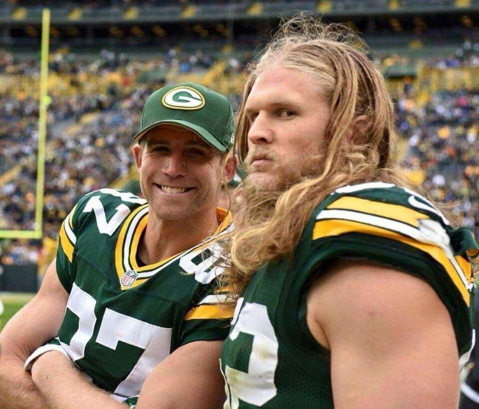 Typical Smiling Jordy And Clay In Beast Mode Jordy Nelson Clay Matthews Green Bay Packers Fans