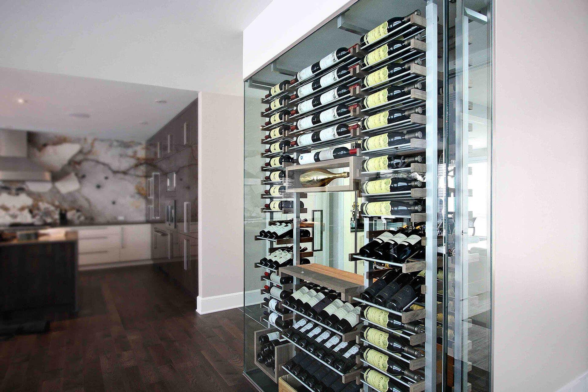 Custom glassenclosed wine cellar design gallery heritage vine