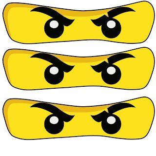 Printable Ninjago Eyes Ninjago Party Prints Png Ninjago Party