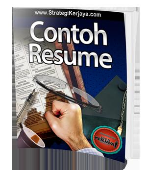 Contoh Resume Kerja Kerajaan Template Resume Resume Resume