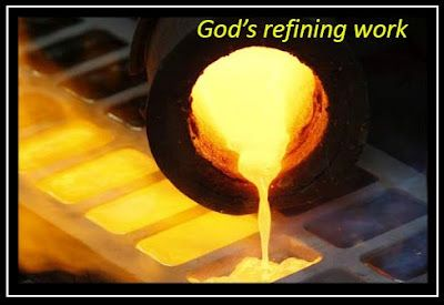 God Refining Fire — He refines us like silver  Not through