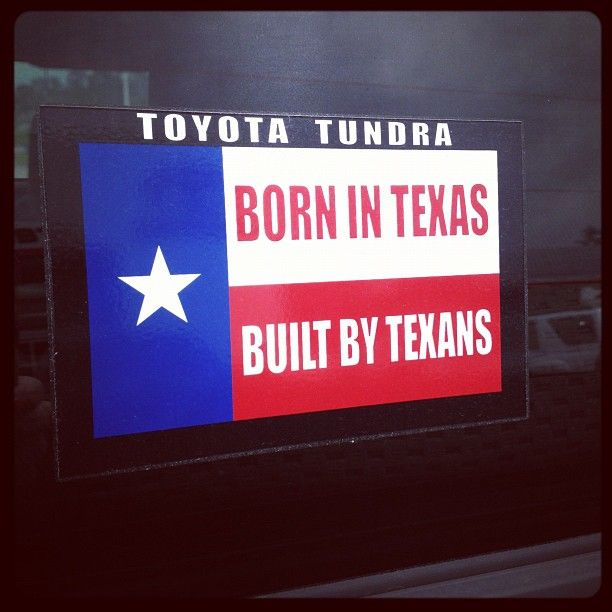 Toyota Tundra. Bown in Texas built by Texans! http://fredhaastoyotacountry.com/