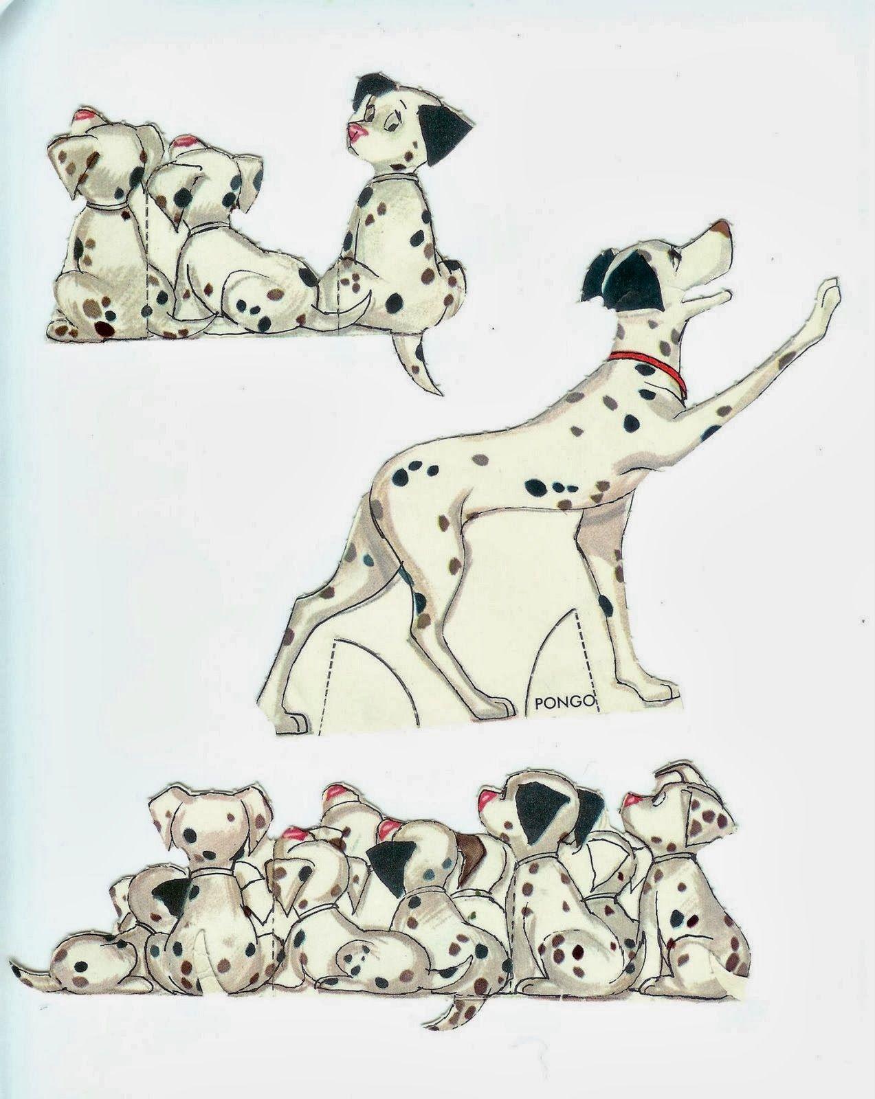 Coleção de bonecos de papel do Desenho Animado Os 101 Dálmatas ...