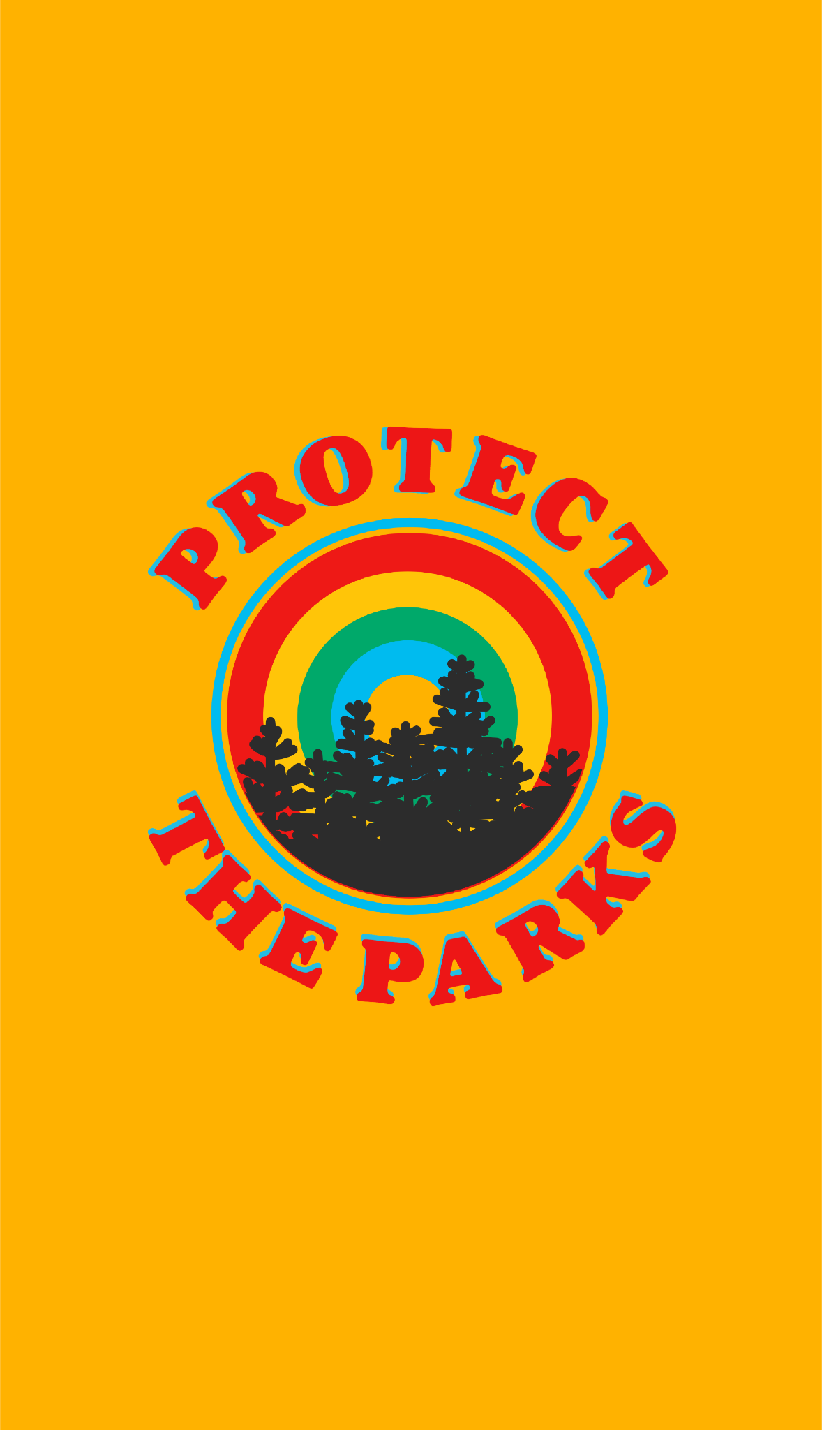Protect The Parks Retro Aesthetic Environmentalist Sticker Sticker By Lexie Pitzen Retro Aesthetic Nature Design Yellow Aesthetic