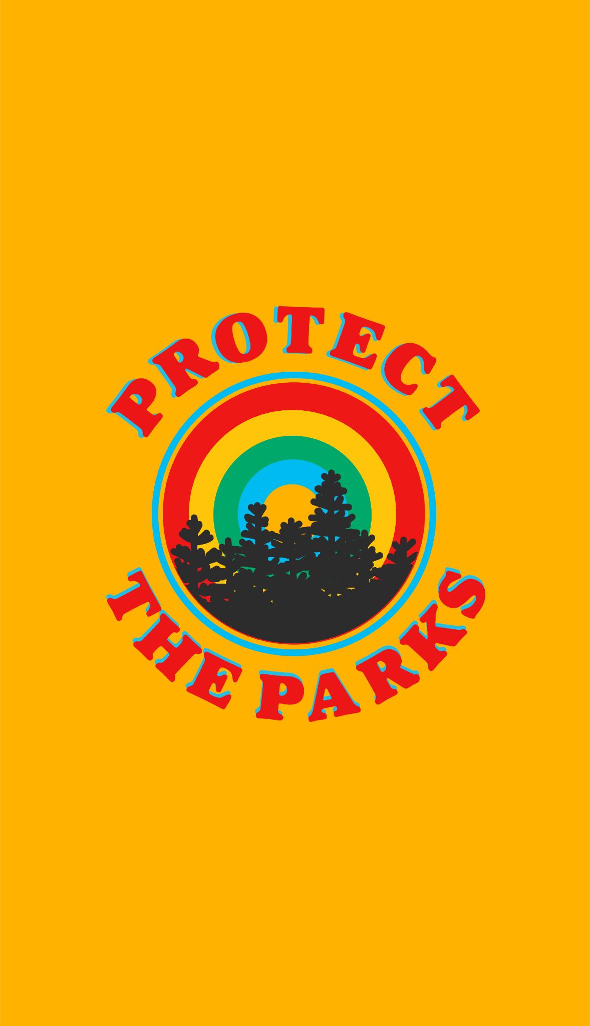 Protect The Parks Retro Aesthetic Environmentalist Sticker Sticker By Lexie Pitzen Retro Aesthetic Nature Design Yellow Aesthetic