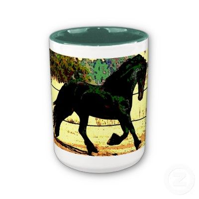 fantasy Black horse makes this a pretty mug $15.70