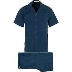 Photo of Cleverly Laundry Washed Cotton Pyjama Short Set Navy