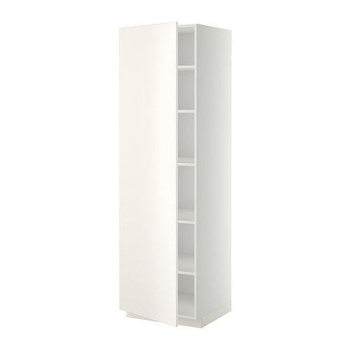 Best Metod High Cabinet With Shelves White Veddinge White Ikea 400 x 300