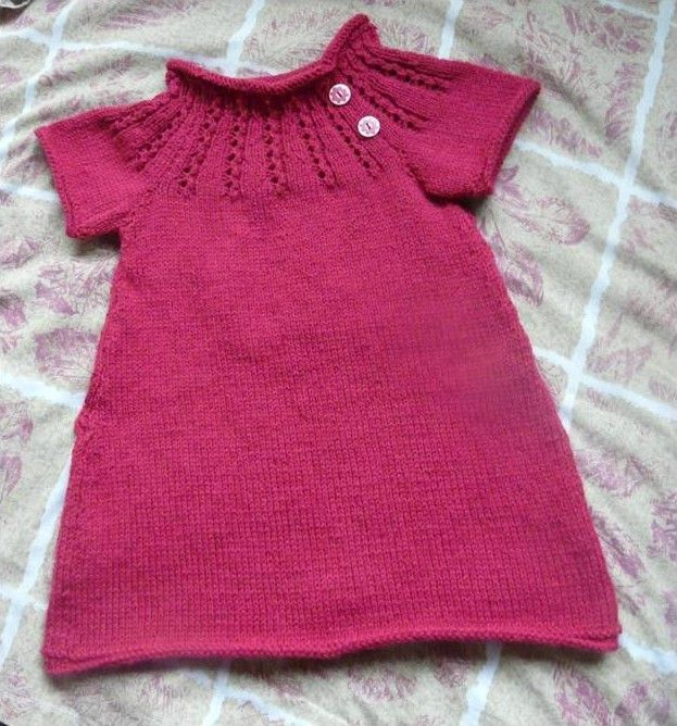 modele tricot robe 2 ans