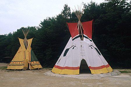 北アメリカ 平原インディアンのテント