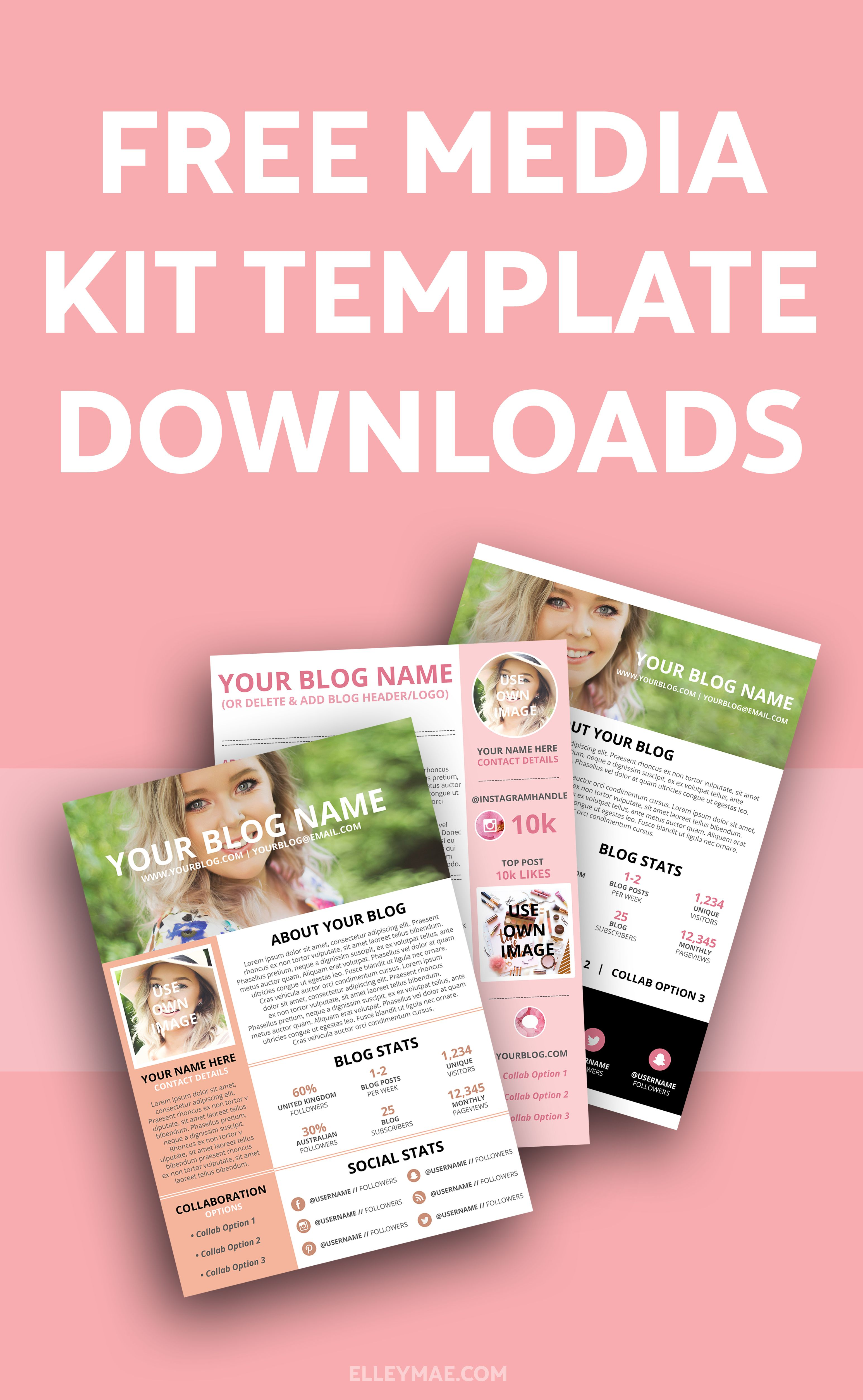 Pin On Media Kits Templates Inspiration