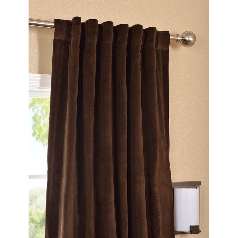 Lovely ... Efficient Insulation U0026 Light Block Soft Flowing Blackout Lining Pole  Pocket Headers Sold Per Panel 50 In. X 120 In. Soft Plush Pile Velvet  Curtains ...