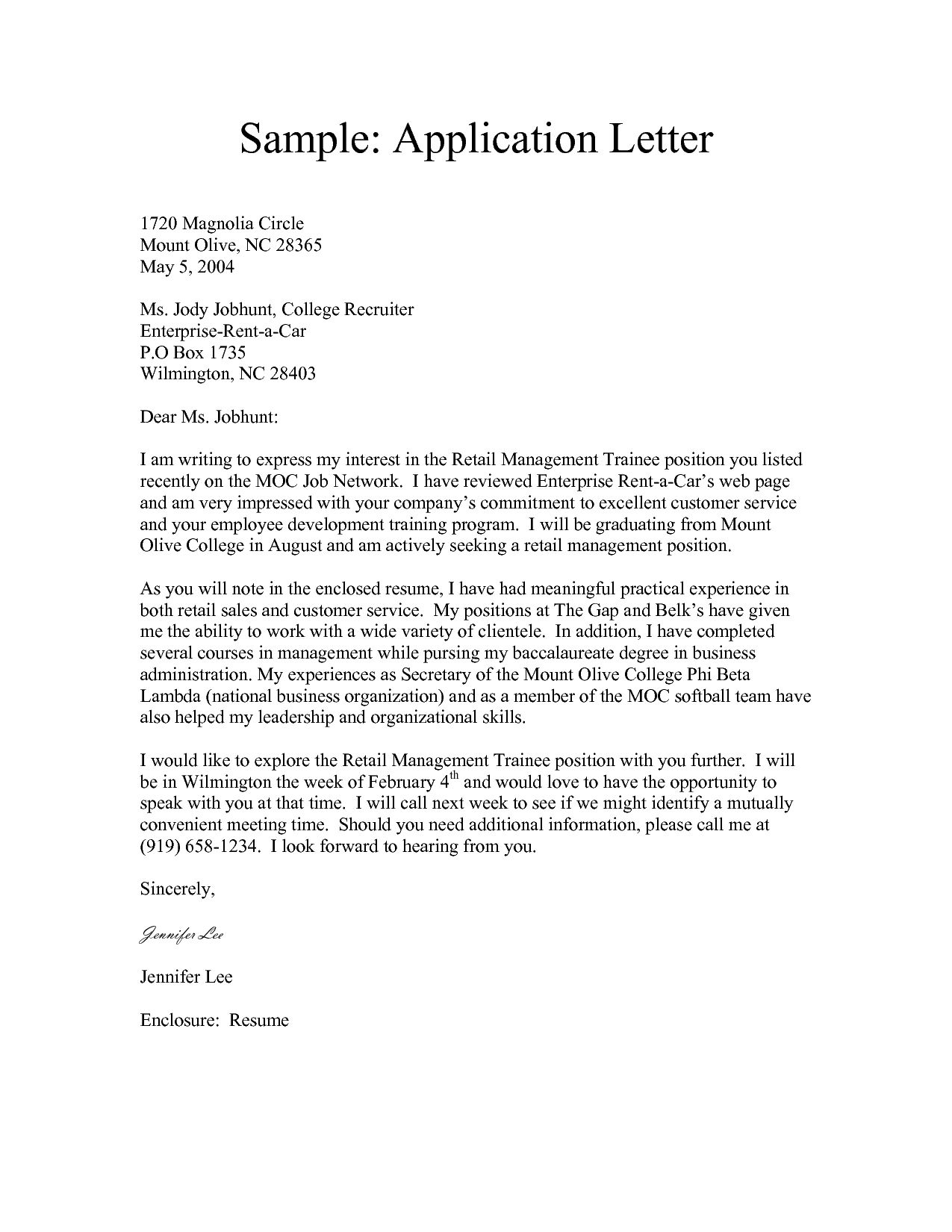 26 Cover Letter Formatting Job Letter Application Letter Sample