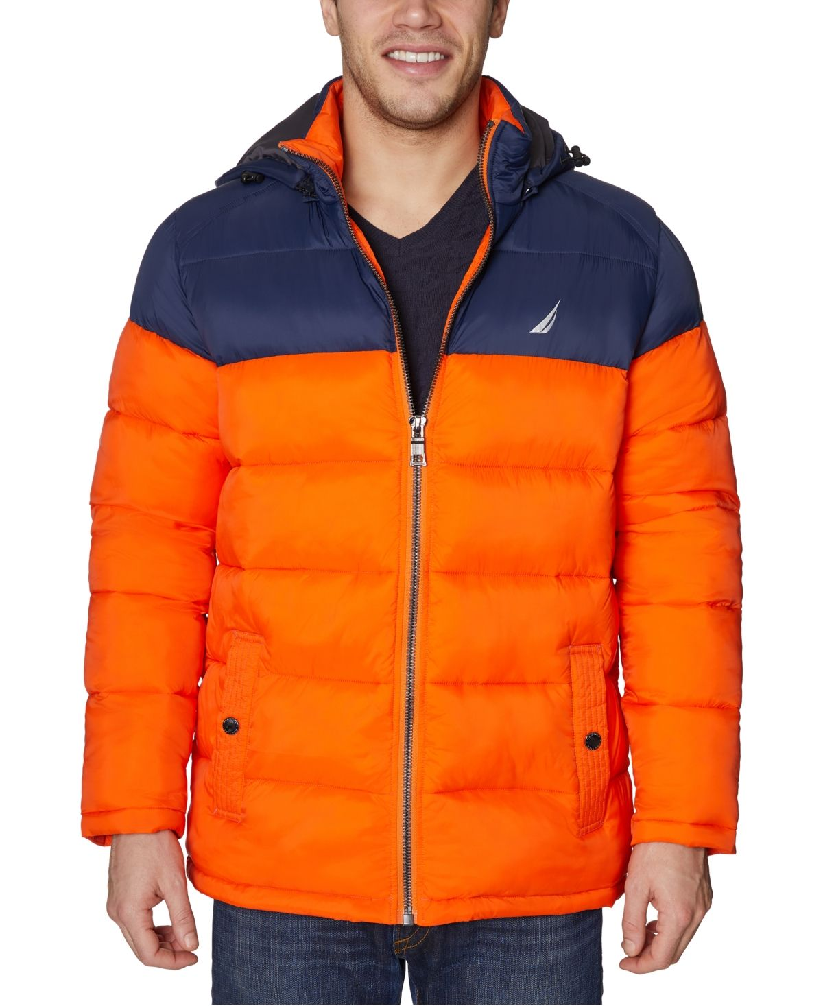 Nautica Men's WaterResistant Puffer Jacket with Removable