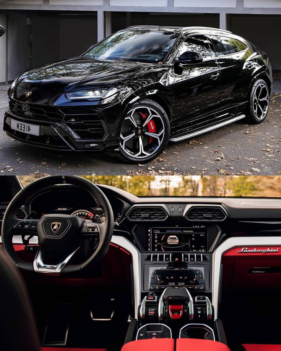 Lamborghini Urus 2019 Black Edition Red N Black Interior Rokenr Tonybet Highbossli Dream Cars Best Luxury Cars Luxury Cars