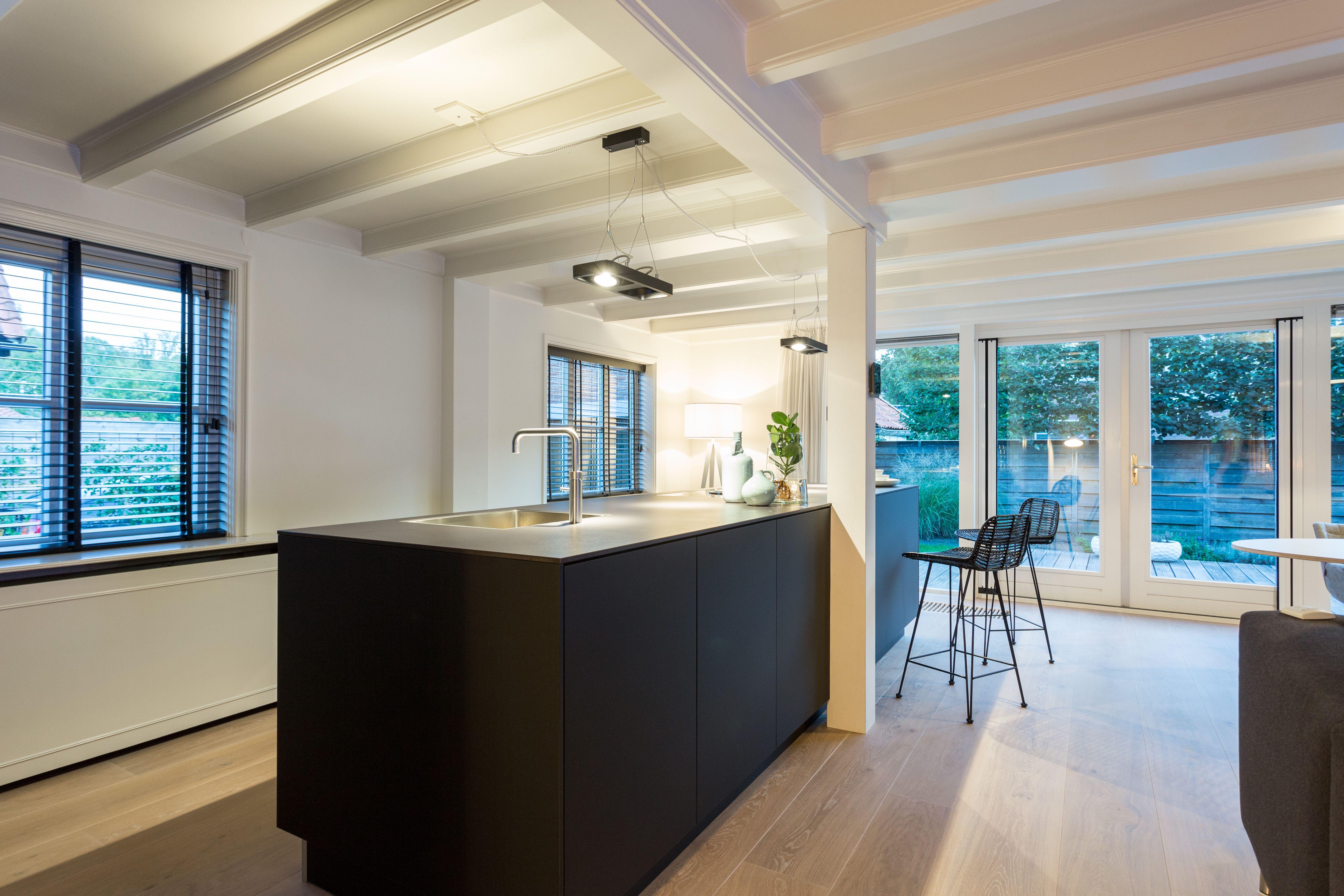 Black Fenix BAX Kitchen With A Black Dekton Worktop.