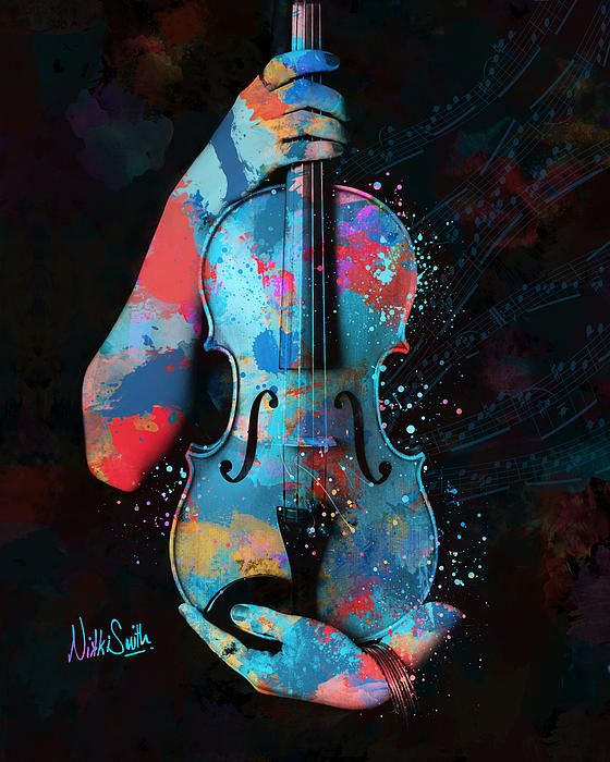 My Violin Whispers Music In The Night by Nikki Marie Smith