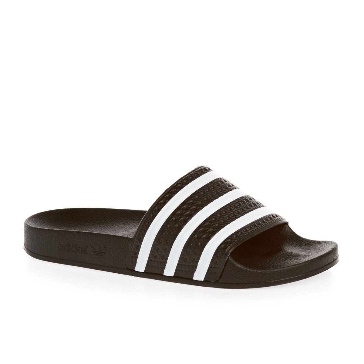 5c94809d65f1 Men s adidas originals Sandals - adidas originals Adilette Sandals - Black White  Mens Flip Flops