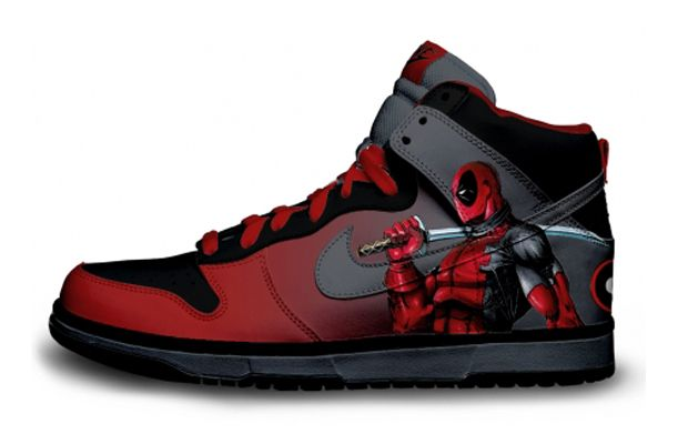 on sale 3c6a1 d06fa Nike d Up  Deadpool Custom Nike Sneakers