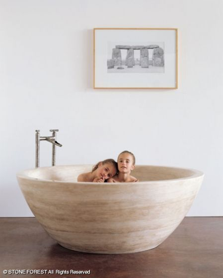 stoneforest.com what a beautiful tub for soaking!