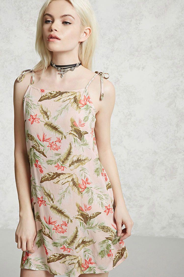 Tropical print cami dress forever pinterest st curves