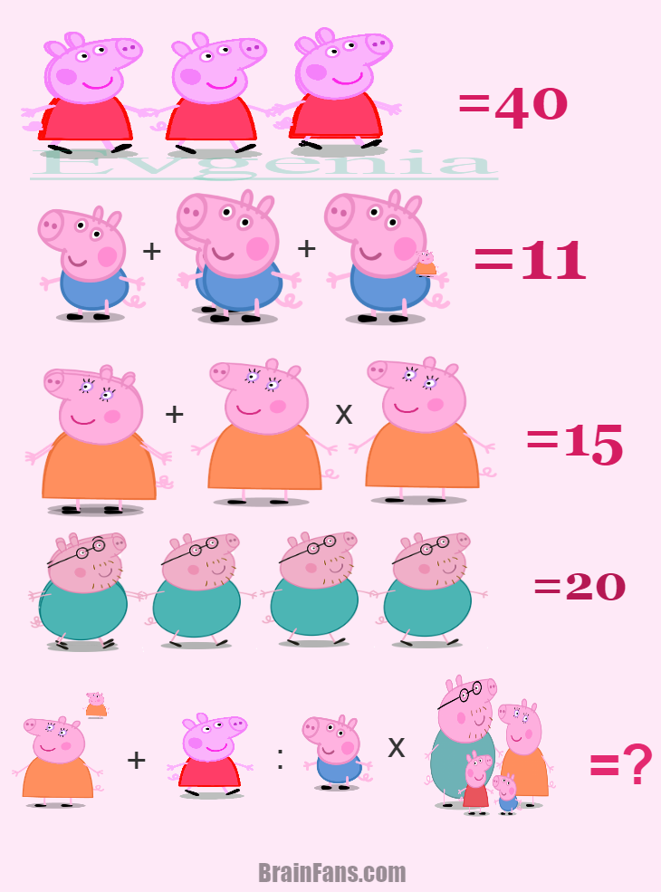 Standing woman logic and number puzzle Number And Math
