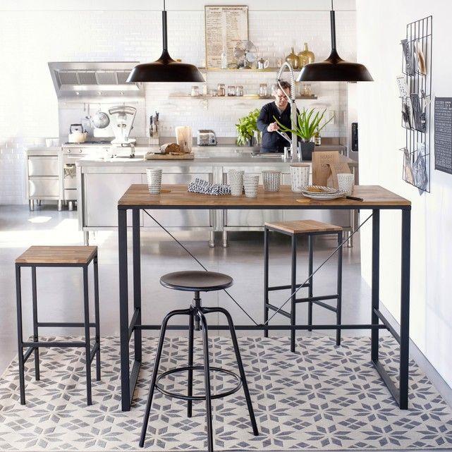 Tapis tissé plat carreaux de ciment, Iswik Dining Room Ideas - store bois tisse exterieur