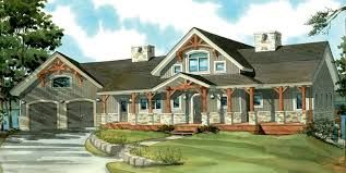 One Story House Plans With Wrap Around Porch And Basement Home One