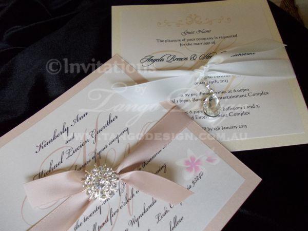 Ivory Wedding Invitation Kits: Nude, Champagne And Ivory Tones In Classy Elegant Wedding