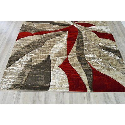 Orren Ellis Ilkley 3d Effect Thick Modern Contemporary Abstract Burgundy Area Rug Wayfair In 2020 Grey And Red Living Room Burgundy Living Room Red Living Room Decor