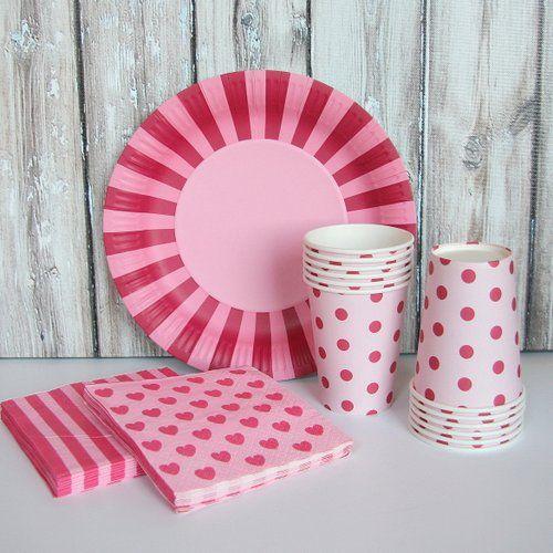 Tableware Set - Pink + Dark Pink