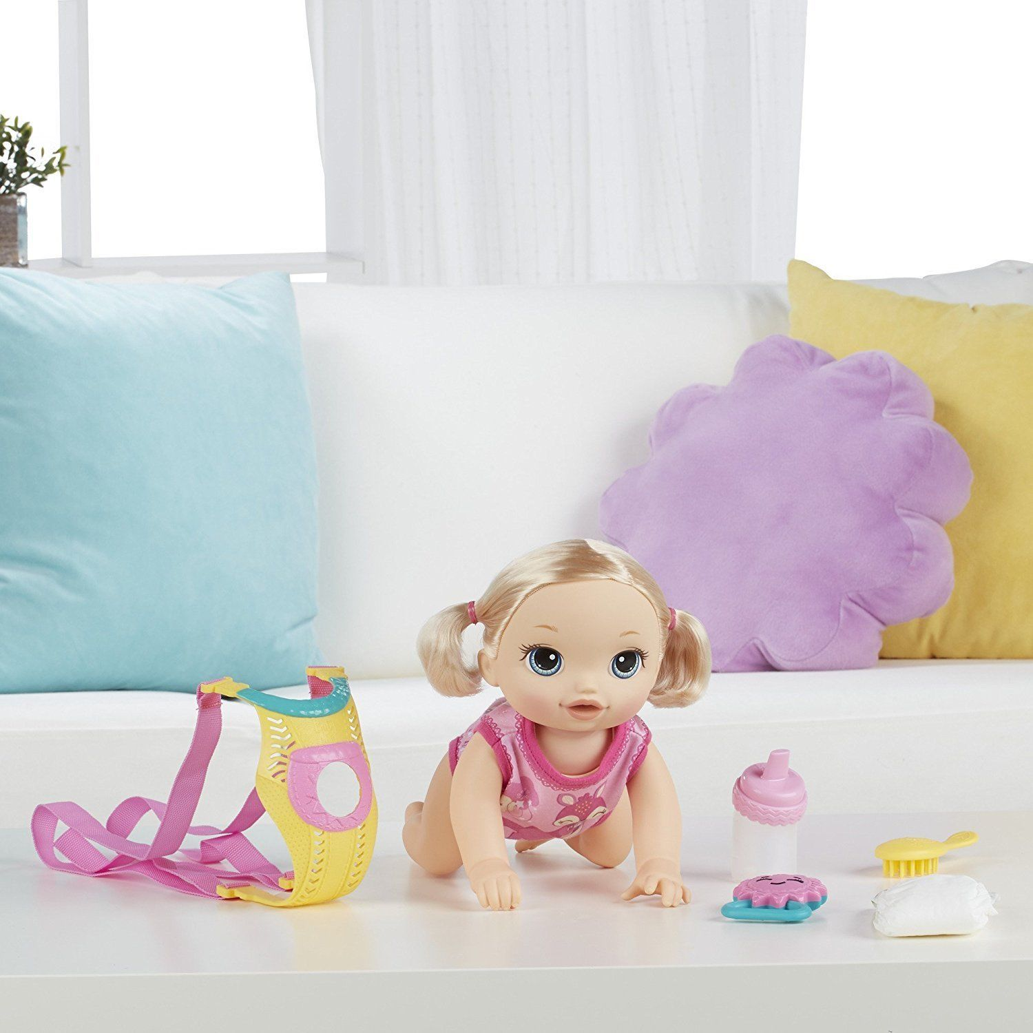 Baby Alive Baby Go Bye Bye Blonde Doll Set Girls Interactive Toy Ebay With Images Baby Alive Interactive Toys Toys For Girls