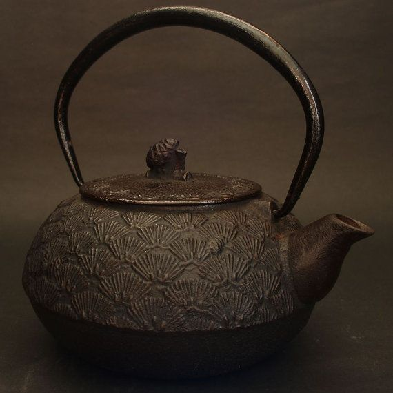 Workmanship In Antique English Metal Hot Water Pitcher Japanned Ware Exquisite