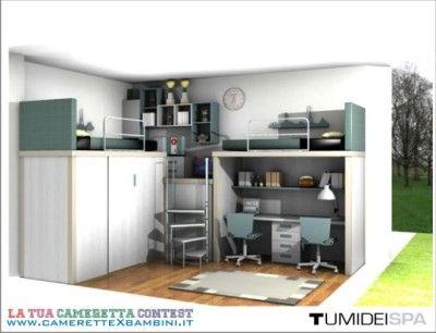 Camerette tumidei ~ Tumidei camerette soppalchi progettati su misura cameretta