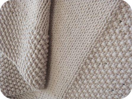 patron tricoter une couverture de bebe