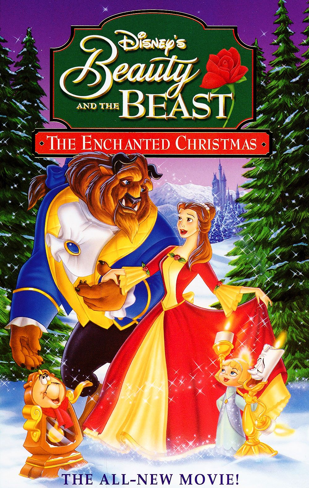 Beauty And The Beast The Enchanted Christmas Disney Christmas Movies Walt Disney Movies Disney Christmas