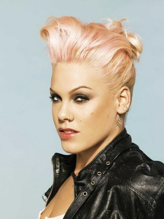 Enjoyable 1000 Images About Pink39S Doquots On Pinterest Her Hair Mohawks Short Hairstyles Gunalazisus