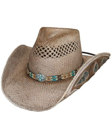 Women's From The Heart Cowgirl Hat, Natural