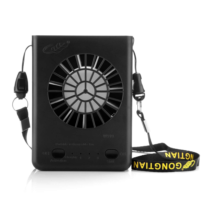 Color : Brown Air Cooler USB Fan Charging Handheld Multi-Function Mini Fan Portable Folding Small Fan Summer