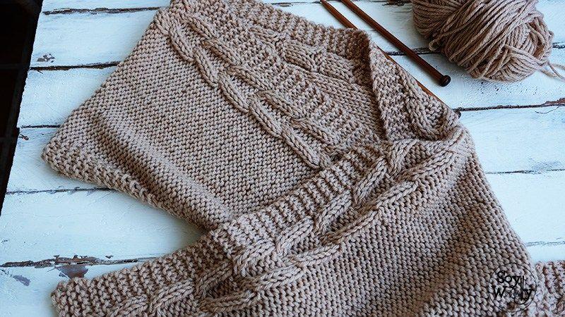 Teje una Bufanda con Capucha fácil en dos agujas | media | Pinterest ...